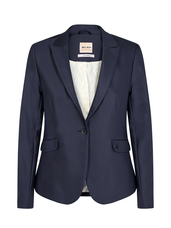 Image of   Mos Mosh Blazer - Blake Night Sust. Blå