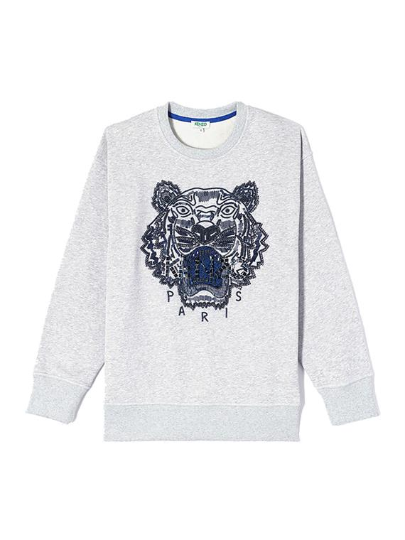 Image of   Kenzo Sweatshirt - Beaded Tiger Sweatshirt Grå