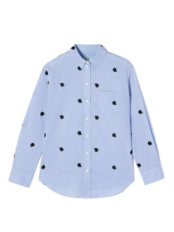 Image of   Kenzo Skjorte - Casual Fit Shirt Blå