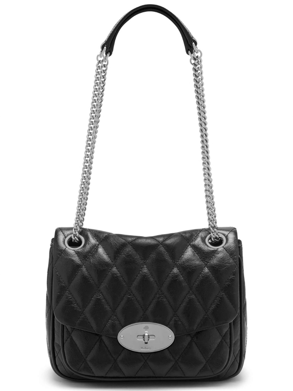 Image of   Mulberry Taske - Darley Quilted Sort