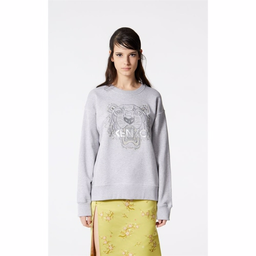 Image of   Kenzo Tiger Sweatshirt Grey Melange