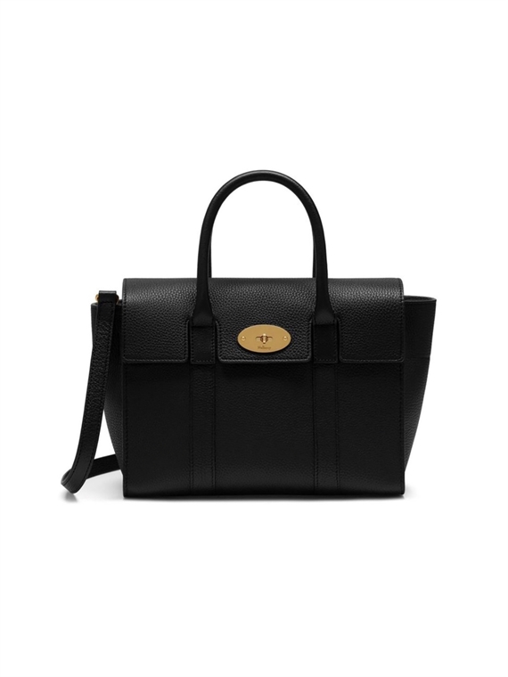 Image of   Mulberry Taske - Small Bayswater Sort/Guld