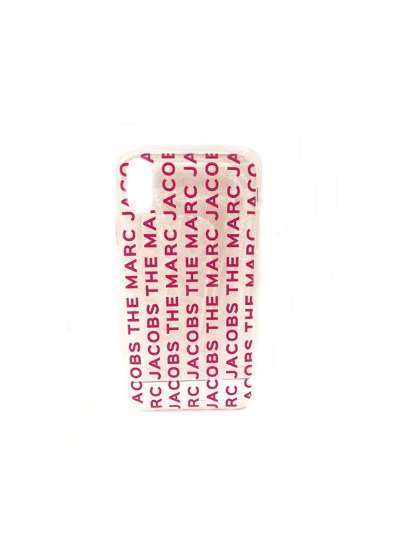Image of   Marc Jacobs Cover - The MJ Clear Phone Cover iPhone XS Klar Pink