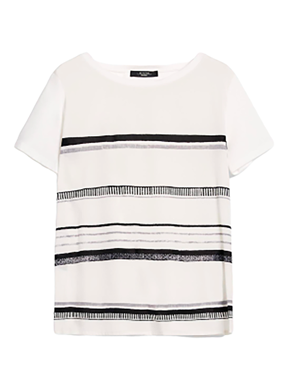Image of   Max Mara T-Shirt - Alaska Råhvid/Sort