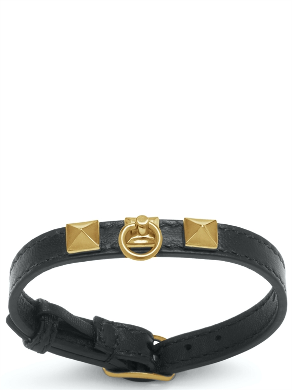 Image of   Mulberry Armbånd - Pyramid Sort/Guld