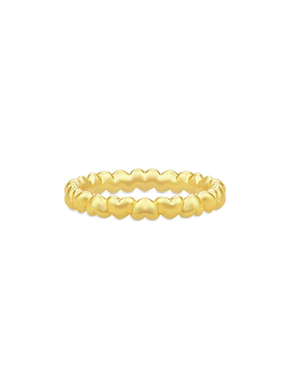 Image of   Julie Sandlau Ring - Love Guld