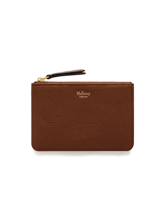 Image of   Mulberry Pung - Zip Coin Pouch Brun