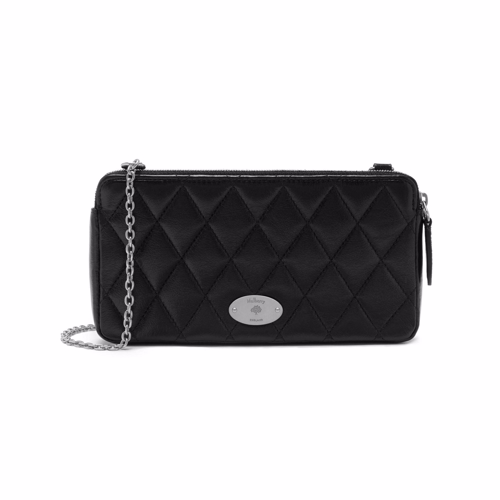 Image of   Mulberry Taske - Plaque Wallet On Chain Quilted Sort