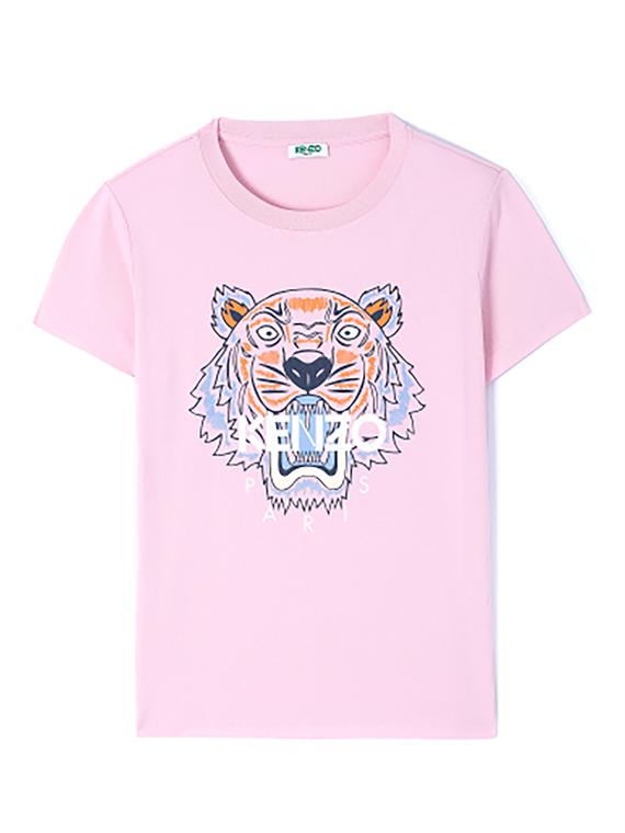 Image of   Kenzo T-shirt - Tiger Lyserød