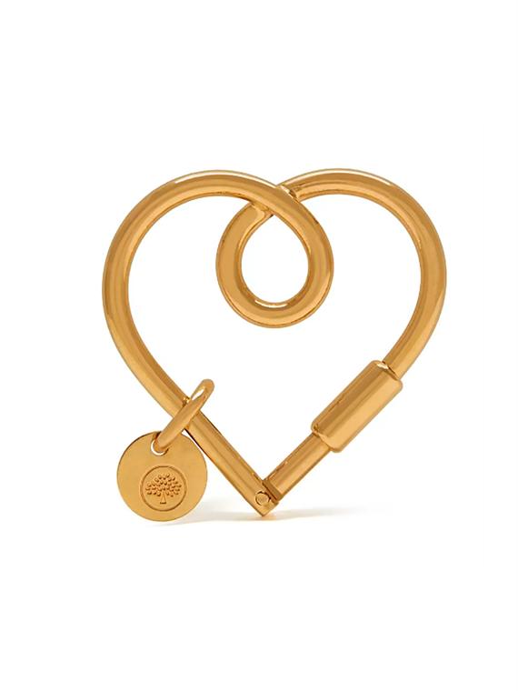 Image of   Mulberry Nøglering - Heart Keyring Guld