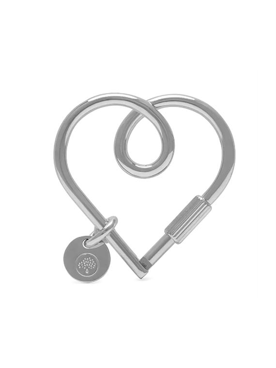 Image of   Mulberry Nøglering - Heart Keyring Sølv
