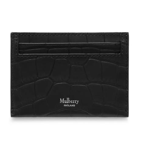 Image of   Mulberry Kortholder - Credit Card Slip Sort/Sølv