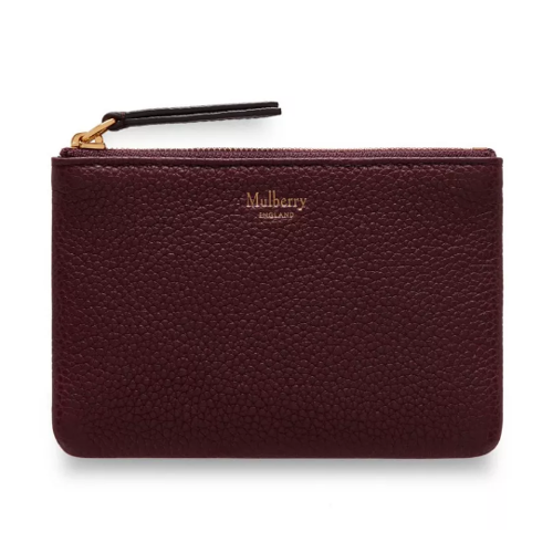 Image of   Mulberry Pung - Zip Coin Pouch Bordeaux