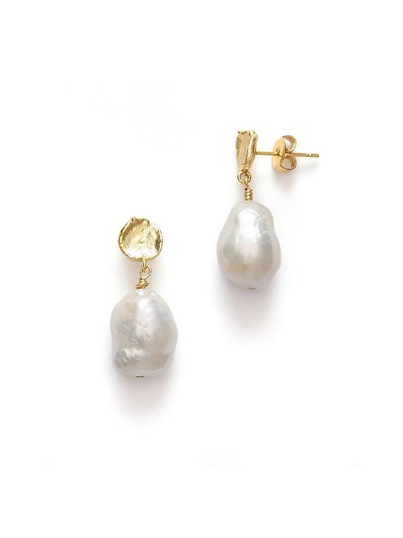 Image of   Anni Lu Øreringe - Treasure Pearl Guld