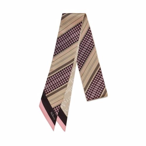 Image of   Mulberry Tørklæde - Bag Scarf Pink Multi