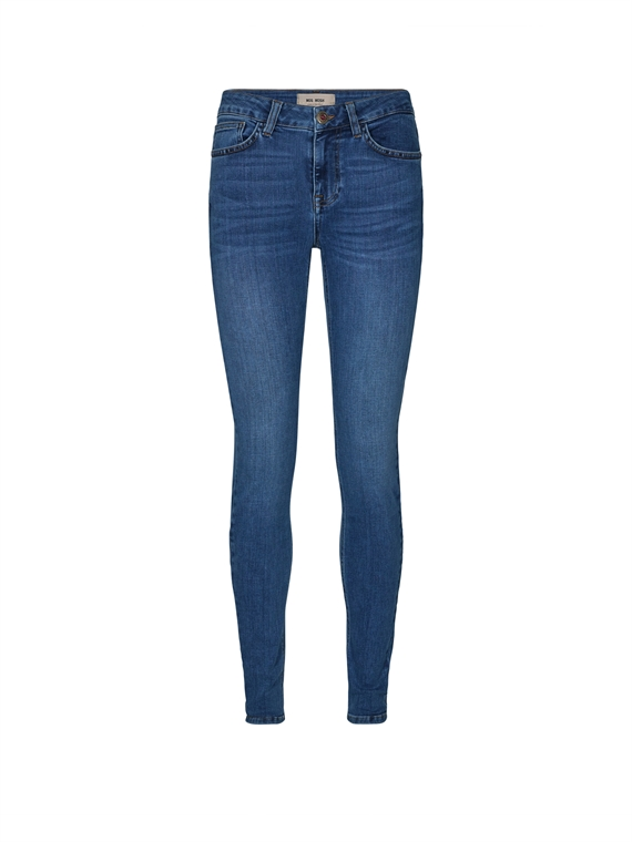 Image of   Mos Mosh Jeans - Alli Core Luxe Blå
