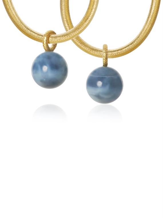 Image of   Dulong Vedhæng - Globe Guld/Blå Opal