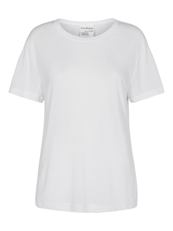 Image of   Acne Studios T-Shirt - Edeline Pink Label Hvid