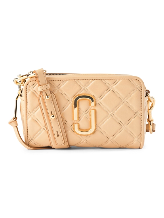 Image of   Marc Jacobs Taske - The Quilted Softshot 21 Beige